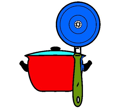 Dibujo de utensilios de cocina pintado por fabinivn en for Utensilios de cocina logo