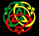Dibujo Mandala 39 pintado por reggae