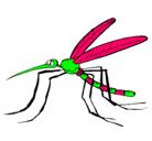 Dibujo Mosquito pintado por dengue