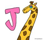 Dibujo Jirafa pintado por J