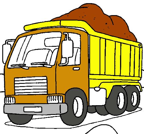 Dibujo de Camión de carga pintado por Mariosd en Dibujos.net el ...