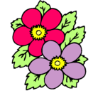 Dibujo Flores pintado por primavera