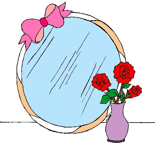 Dibujo de espejo pintado por nuria en el d a for Espejos infantiles