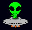 Dibujo Alienígena pintado por gogos