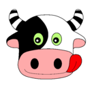 Dibujo Vaca pintado por hannia