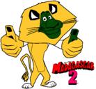 Dibujo Madagascar 2 Alex pintado por martin