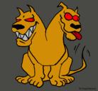 Dibujo Perro de dos cabezas pintado por 2peros