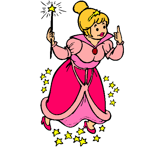 Dibujo de Hada madrina pintado por Rosamara en Dibujosnet el da