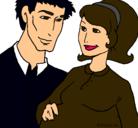 Dibujo Padre y madre pintado por katherine