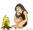 Dibujo Descubrimiento del fuego pintado por konan