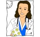 Dibujo Doctora sonriendo pintado por dra