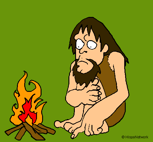 Dibujo de Descubrimiento del fuego pintado por Gfgf en Dibujosnet