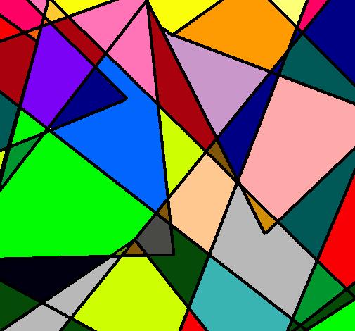dibujo de abstracto pintado por anaila en el