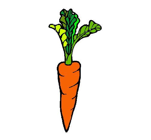 Dibujo de zanahoria pintado por Zanahoria en Dibujos.net el día 18 ...