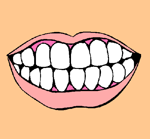 Dibujo de Boca y dientes pintado por Facu en Dibujosnet el da 27