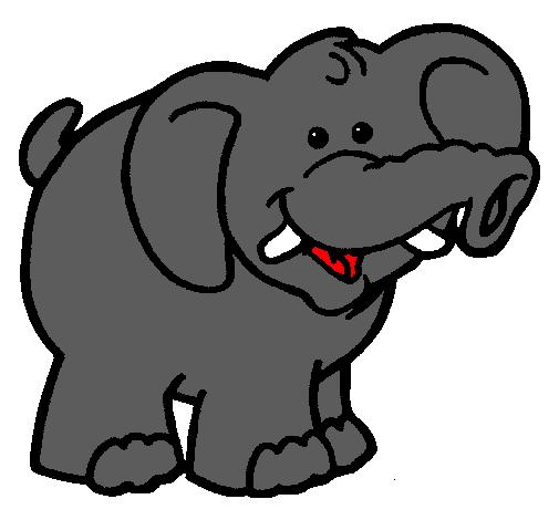Dibujo de Elefante pintado por Israel en Dibujos.net el ...
