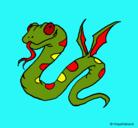 Dibujo Serpiente con alas pintado por Hacob