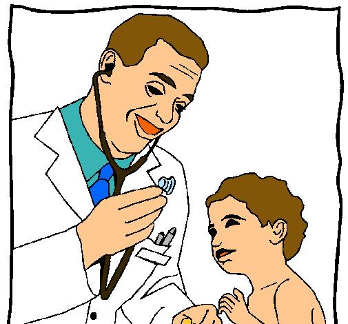 Dibujo de Mdico con el estetoscopio pintado por Doctor en Dibujos