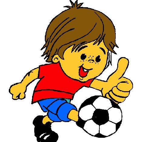 Resultado de imagen de dibujo niño jugando al futbol