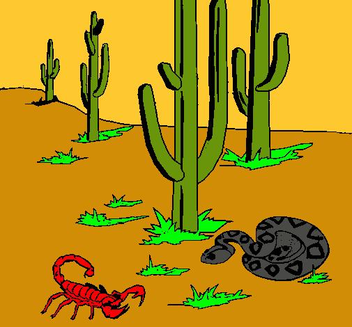 Dibujo de Desierto pintado por El desierto del en Dibujosnet el