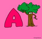 Dibujo Árbol pintado por la letra a