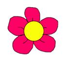 Dibujo Flor 3 pintado por Mili ♥
