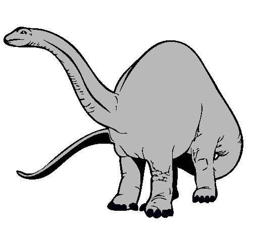Dibujo de Braquiosaurio II pintado por Cuello largo en Dibujosnet