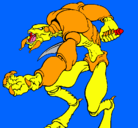 Dibujo Alien pintado por godzilla