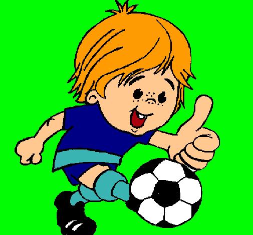 Dibujo de Chico jugando a fútbol pintado por Rochy en Dibujos.net ...