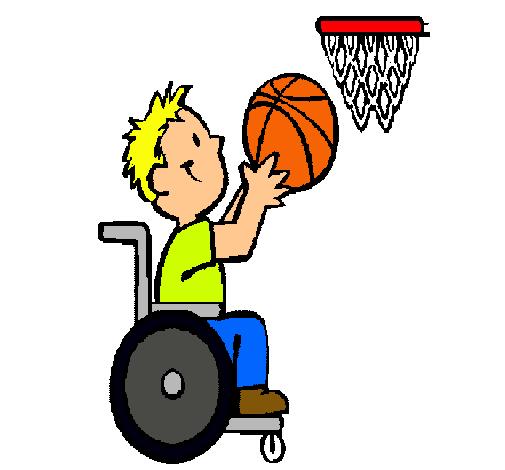 Dibujo de Bsquet en silla de ruedas pintado por Mario en Dibujos