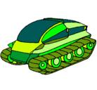 Dibujo Nave tanque pintado por Asterixx