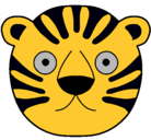 Dibujo Tigre II pintado por mascara