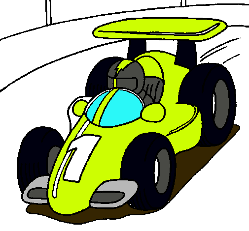 Dibujo de Coche de carreras pintado por Alonso en Dibujosnet el