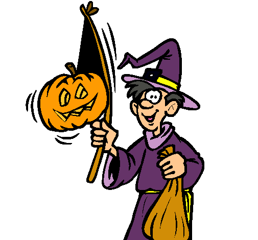 Dibujo de Brujo pintado por Halloween en Dibujos.net el ...