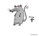 Dibujo Rata pintado por icarly