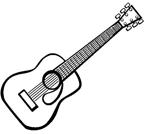 Dibujo de Guitarra española II pintado por Edel en Dibujos.net el ...