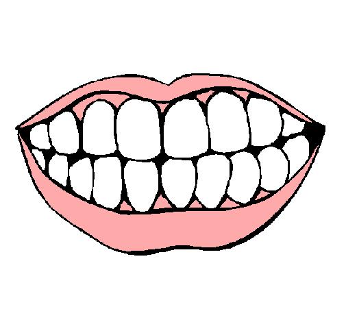 Dibujo de Boca y dientes pintado por Maryfer en Dibujosnet el da