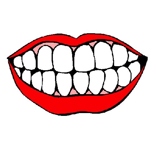 Dibujo de Boca y dientes pintado por Bonita en Dibujosnet el da