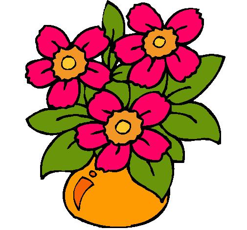 Dibujo de Jarrn de flores pintado por Sisi en Dibujosnet el da