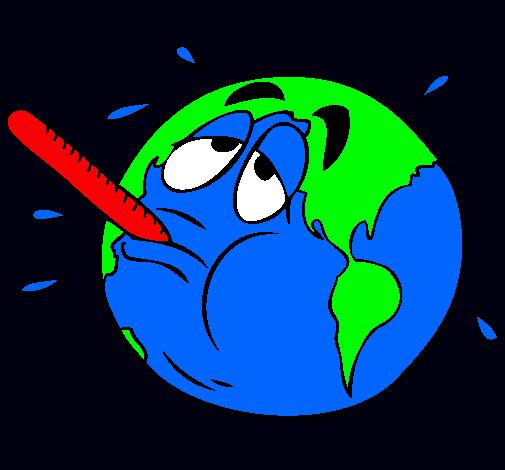 Dibujo de Calentamiento global pintado por C en Dibujos.net el día 03