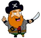 Dibujo Pirata pintado por barbarroja