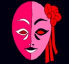 Dibujo Máscara italiana pintado por loco