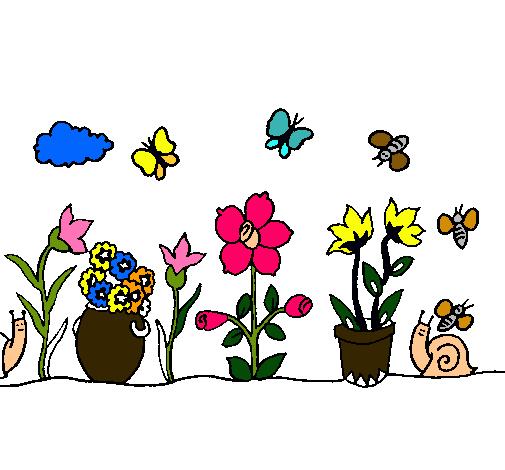 Dibujo de jard n pintado por ysmin en el d a for Jardin dibujo