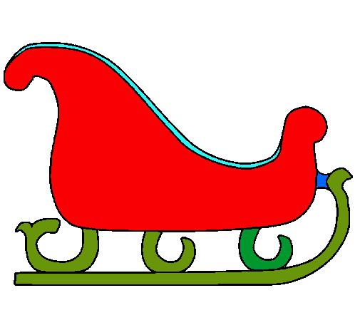 dibujo de trineo pintado por frank en el d a
