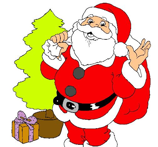 Dibujos de santa imagui for Dibujos de navidad pintados