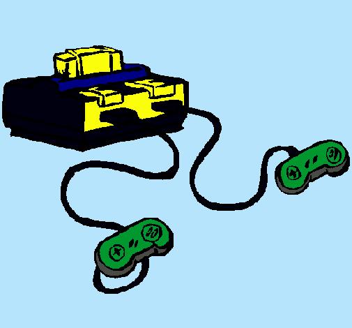 Dibujo de Consola pintado por Xbox en Dibujosnet el da 211110