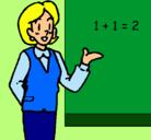 Dibujo Maestra de matemáticas pintado por PROFESORA