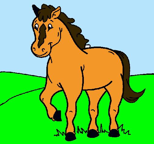 Dibujo de Caballo pintado por Caballo en Dibujosnet el da 2111