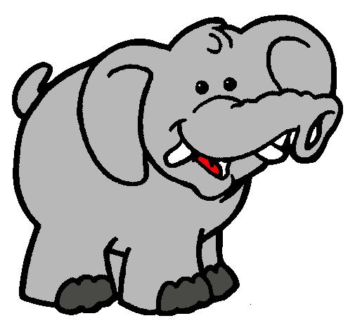 Dibujo de Elefante pintado por Nayeli en Dibujosnet el da 1911