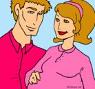 Dibujo Padre y madre pintado por MAMA-PAPA-IRENE